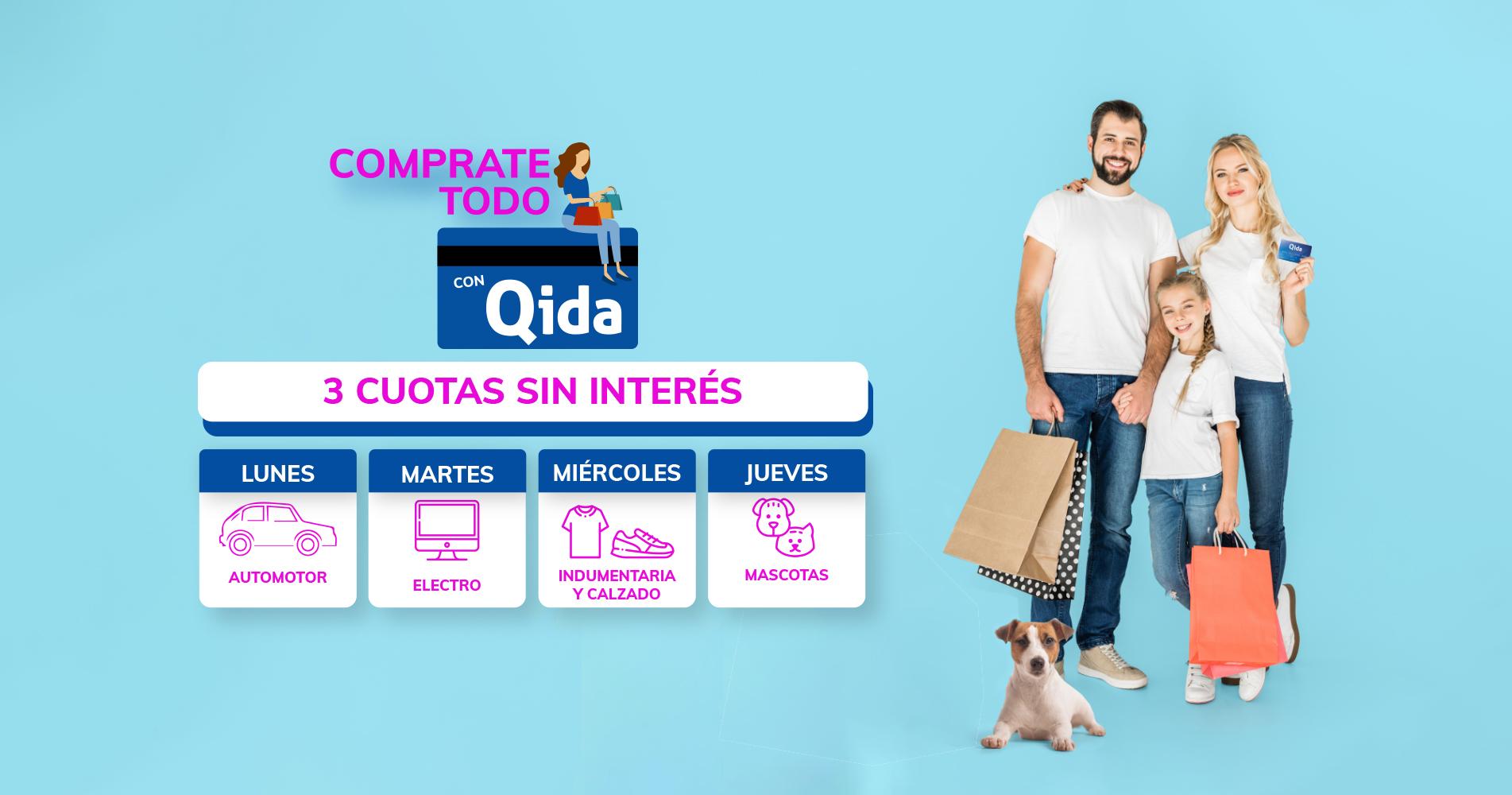 Comprate todo con Qida